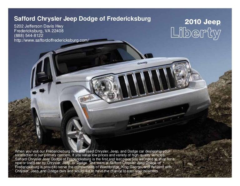 2010 safford chrysler jeep dodge of fredericksburg jeep liberty frede. Black Bedroom Furniture Sets. Home Design Ideas