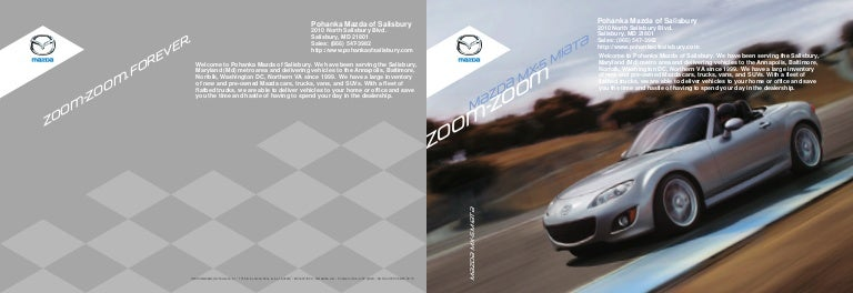 Mazda Dealership Md >> 2010 Mazda Mx5 Miata In Salisbury Md