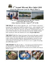 2010 Missouri River Safari Info