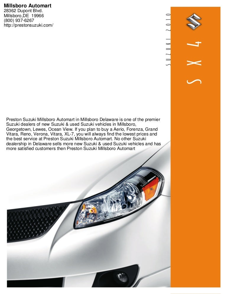 2010 suzuki sx4 sedan slideshare