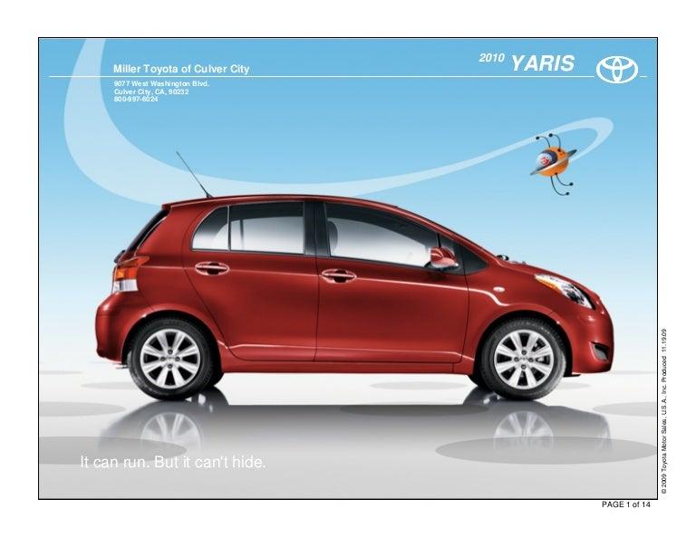 2010 Toyota Yaris Culver City
