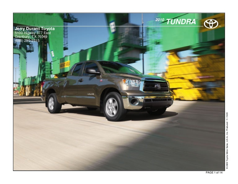 Jerry Durant Toyota >> 2010 Toyota Tundra