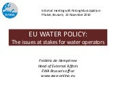 EU water policy: the issues at stakes for water operators