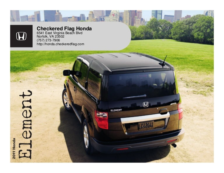 2011 Honda Element For Sale Near Virginia Beach VA  Checkered Flag H