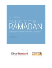 Productivity in Ramadan: Strategies for the Modern Muslim Work Environment