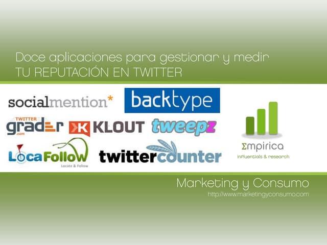 12 aplicaciones para medir tu reputación en Twitter