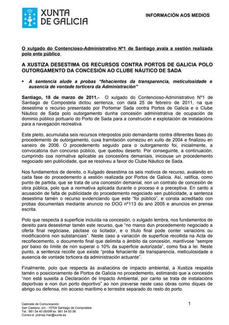 Sentencia concesion puerto de Sada