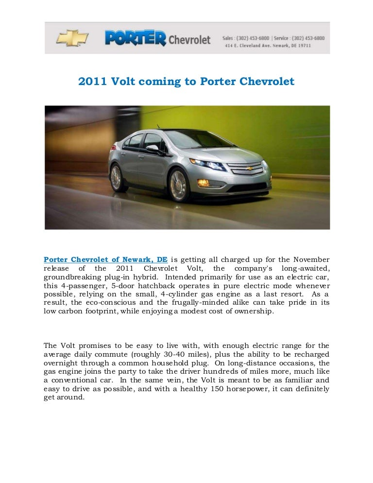 2011 Chevrolet Volt Newark