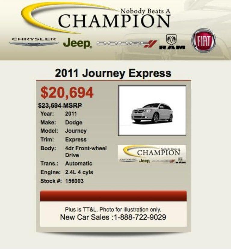 Dodge Dealership Indianapolis >> 2011 Dodge Journey For Sale In Dodge Dealer Indianapolis