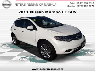 Used 2011 Nissan Murano LE SUV - Nashua NH Nissan Dealer