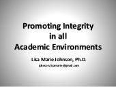 Promoting Integrity in All Learning Environments