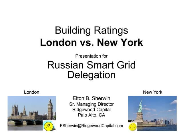 Building Ratings - London vs. New York