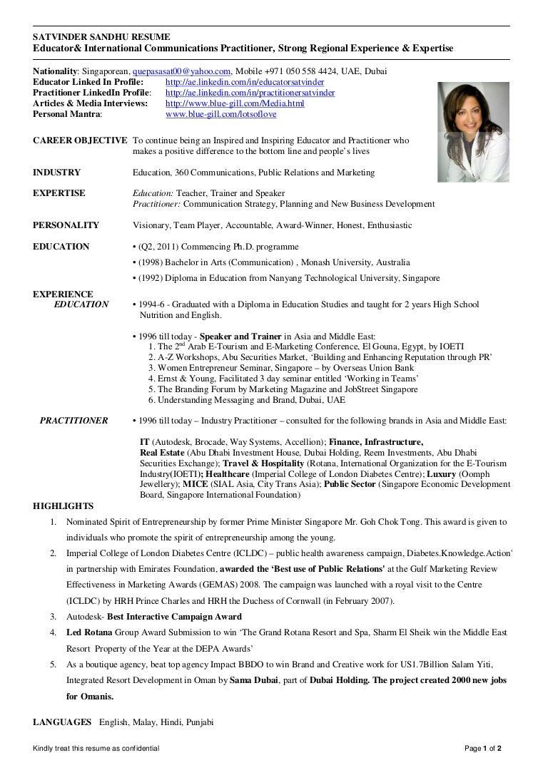 singapore resume - Moren.impulsar.co