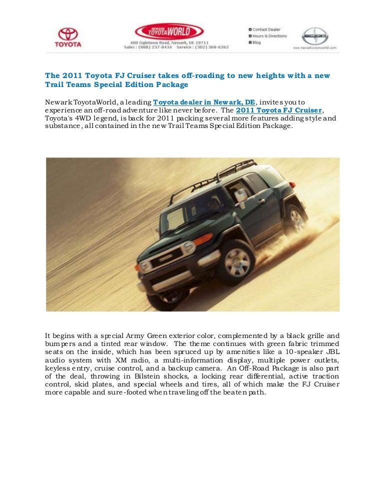 Toyota Dealers In Delaware >> 2011 Toyota Fj Cruiser Delaware