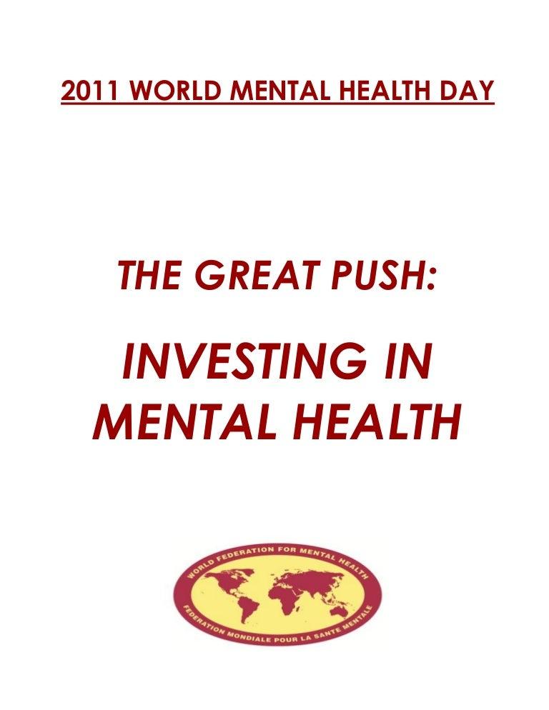 2011 World Mental Health Day Document