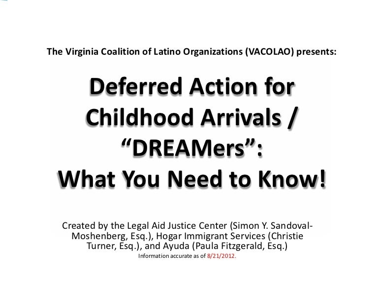 Deferred action for childhood arrivals presentation yelopaper Choice Image