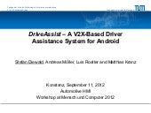 DriveAssist – A V2X-Based Driver Assistance System for Android