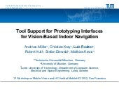 Tool Support for Prototyping Interfaces