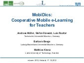 MobiDics: Cooperative Mobile e-Learning for Teachers