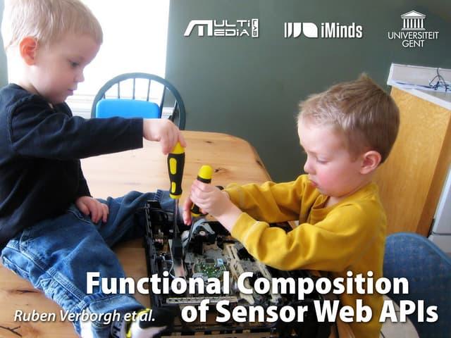 Functional Composition of Sensor Web APIs
