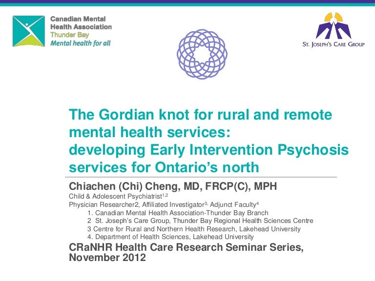 2012 The Gordian Knot For Rural And Remote Mental Health Services