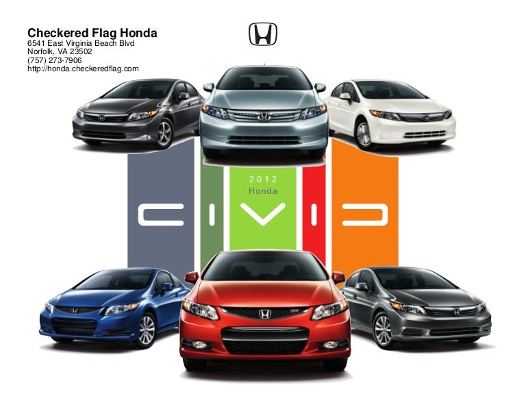 2012 Honda Civic For Sale Near Virginia Beach VA  Checkered Flag Hon