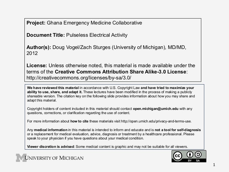 GEMC- Pulseless Electrical Activity- for Residents