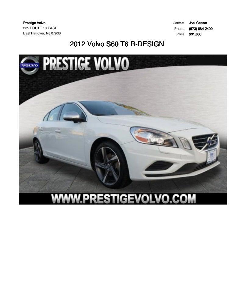 2012 volvo s60 t6 r design for sale
