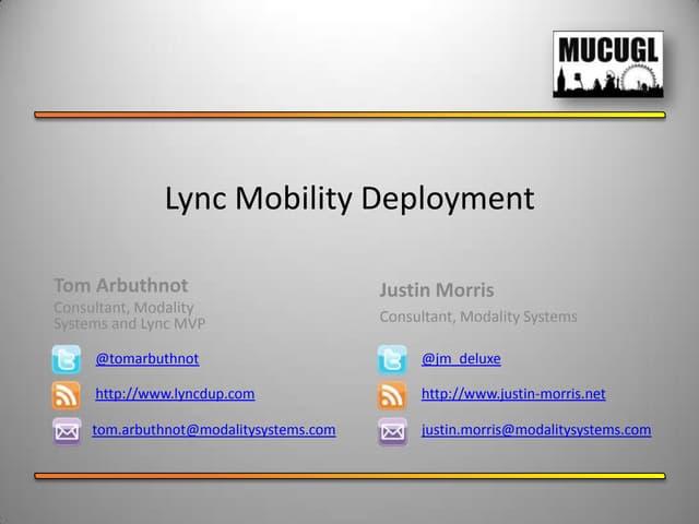 Lync Mobility Deployment