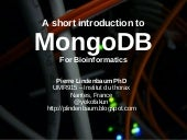 Introduction to mongodb for bioinformatics