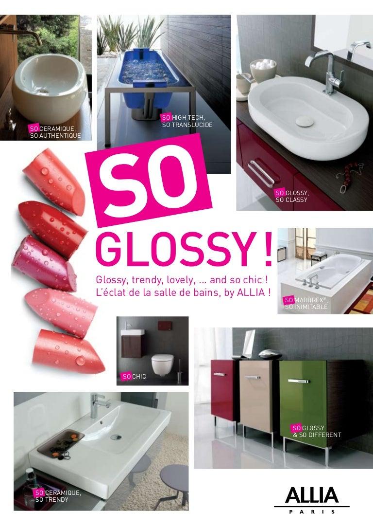 dossier de presse collections de salle de bains glossy par. Black Bedroom Furniture Sets. Home Design Ideas