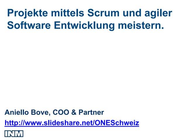 Scrum und Agile Software Entwicklung