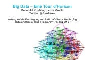 Big Data - Eine Tour d'Horizon