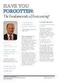 Article: Forecasting Fundamentals