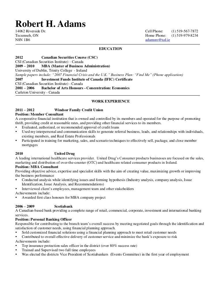 rob s resume