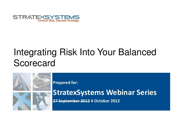 Free Civil Rights Webinar At 3pm 927 >> Integrating Risk Into Your Balanced Scorecard