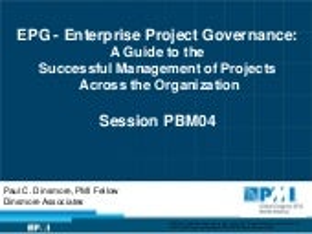 PMI Global Congress 2012