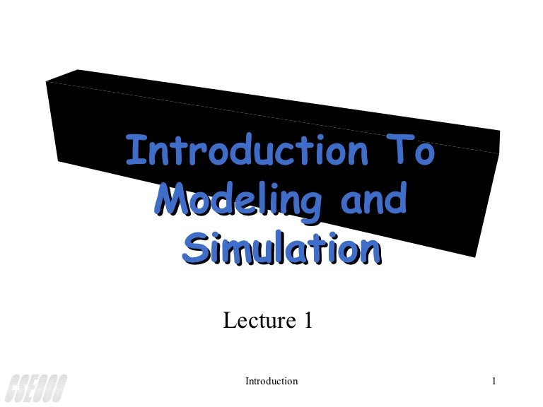 Simulation Powerpoint- Lecture Notes