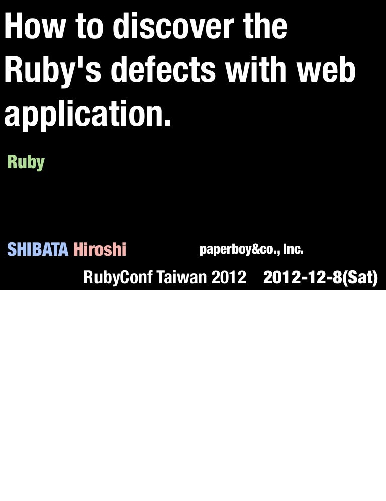 How to discover the rubys defects with web application malvernweather Gallery