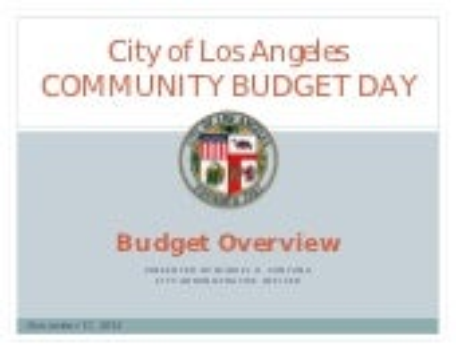2012 Budget Day Presentation