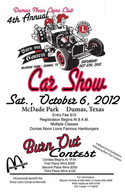 Eek Car Show Flyer - Blank car show flyer