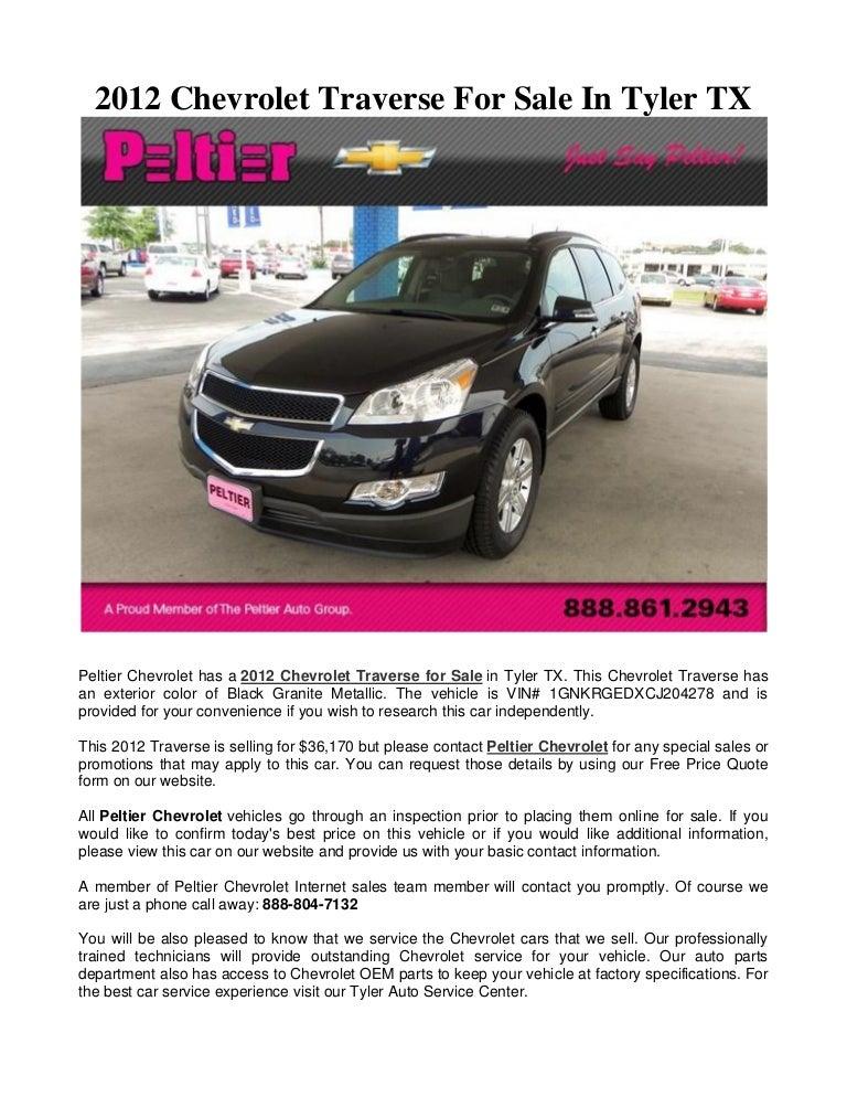Chevrolet Tyler Tx >> 2012 Chevrolet Traverse For Sale In Tyler Tx