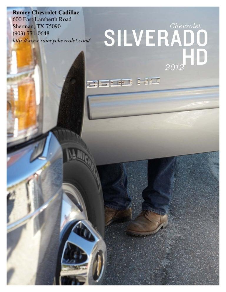 Ramey Chevrolet Sherman Tx >> 2012 Chevy Silverado Hd For Sale In Sherman Tx Sherman