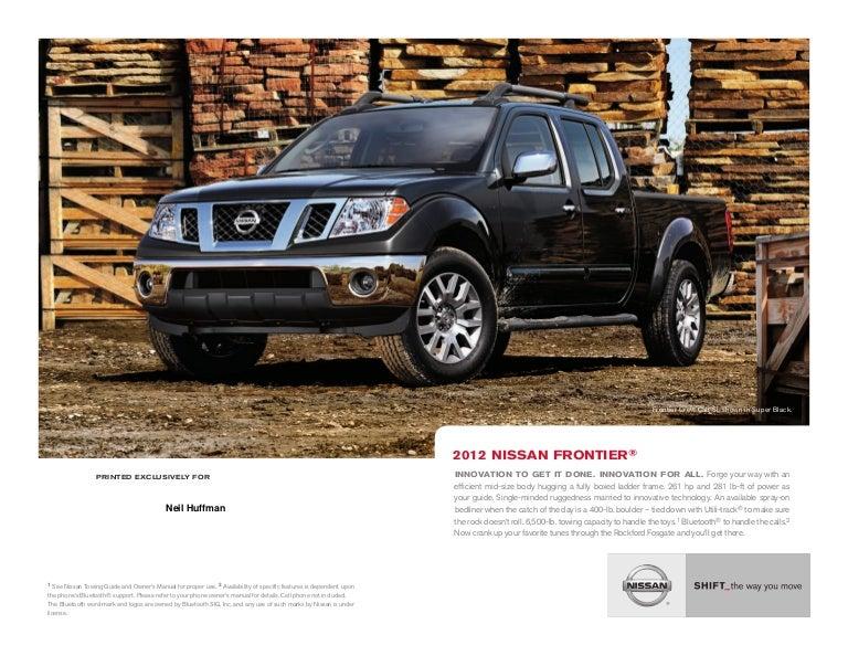 Neil Huffman Nissan >> 2012 Nissan Frontier brochure by Neil Huffman Nissan ...