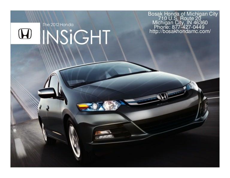 2012 Honda Insight Brochure Honda Dealer Serving