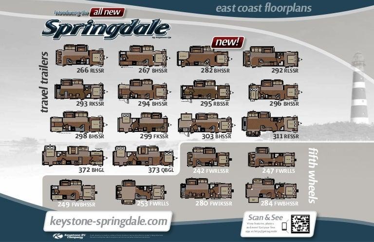 2012 Keystone Springdale Travel Trailers  Fifth Wheels
