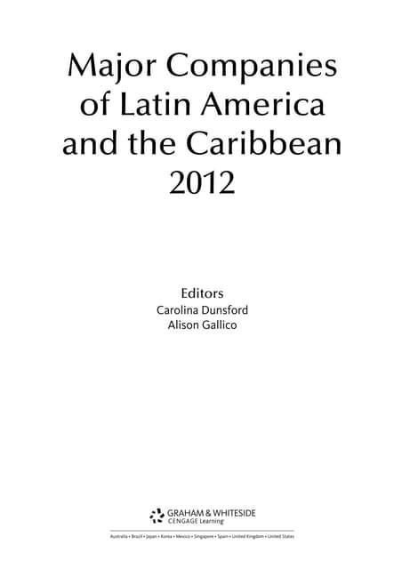 And Latin Of 2012 Companies America The Major Caribbean2012 wOZkiuPXT
