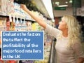 A2 Evaluation Question on Supermarkets