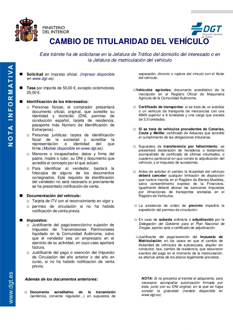 2013 04 18 Documentacion Para Traspaso Vehiculo Doc # Bienes Muebles Vehiculos