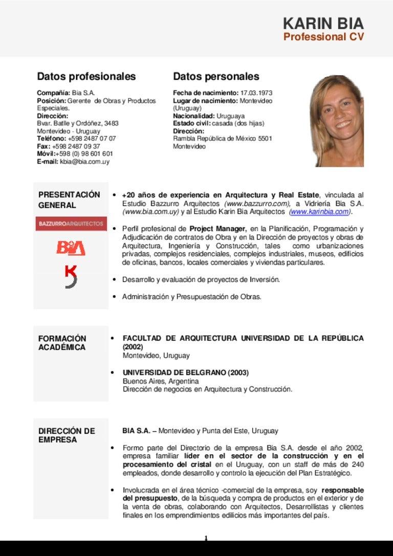 Excepcional Profesionales De Curriculum Inspiración - Ejemplo De ...